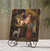 Marco Sevelli Tile Plaque - Away in a Manger, # 4810