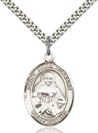 "1""x3/4"" Sterling Silver St. Julia Billiart Medal, Your Choice of Chain, # 54147"