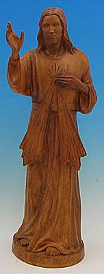 "Divine Mercy Outdoor Statue 24"", Wood Stain Finish, # 56871"