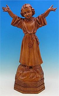 "Divino Nino Outdoor Statue, 32"", Wood Stain Finish, # 56907"