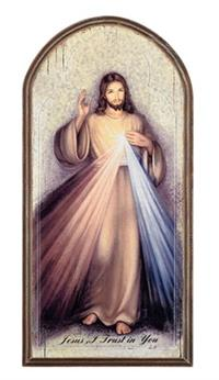 "Divine Mercy Arched Plaque, 15"", # 5793"
