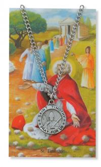 Patron Saint Medal with Laminated Card, St. Timothy, # 63054