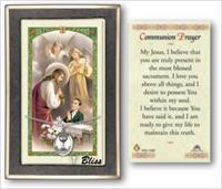 Boy's First Communion Medal with Prayer Card, gift boxed, Sterling Silver, # 67198