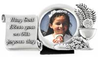 "4"" Fine Pewter First Communion Picture Frame, # 67991"