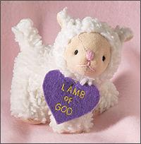 "4"" Plush Lamb, ""Lamb of God"", # 92252"
