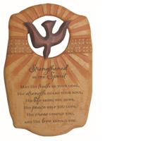 "9"" STRENGTHENED IN THE SPIRIT WALL PLAQUE, #93494"