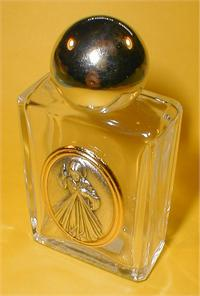 "1-3/4"" x 3-1/4"" Glass 1.5 oz. Holy Water Bottle Divine Mercy  Made in Italy., 96180"