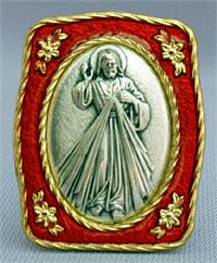 "1-1/2"" x 1-3/4""  Divine Mercy Mini Standing Plaque,  Made in Italy., 97338"