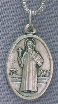 "1"" Medal on a 24"" chain. Made in Italy,, Saint Benedict, 97601"