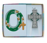 Celtic Cross and Rosary Set, # 98393.