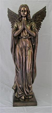 38 Quot Cold Cast Bronzed Resin Praying Angel Statue 99402