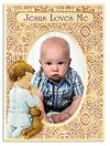 Jesus Loves Me Praying Child Photo Frame, Boy, 7.5