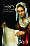 2019 Saints Calendar and 16 Month Daily Planner Spiral Bound, # 1456