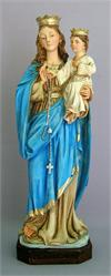 A beautiful Lady of The Rosary alabaster statue, 11