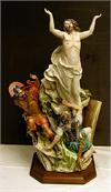 Resurrection by Luciano Cazzola, Capodimonte Porcelain, quality wood base, 14 x 24