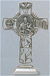 St. Francis of Assisi Pewter Standing Cross 6