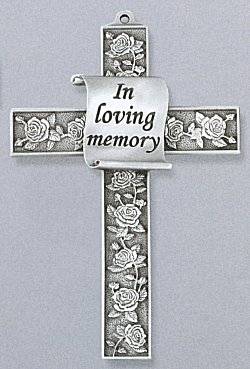 Memorial Cross Pewter - In Loving Memory
