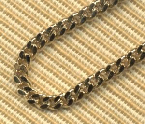 "27"" Curb Chain Endless, 2.9mm, Light Gold Plated, # 11370"
