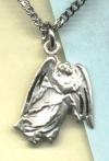Guardian Angel Medal 5/8 In. Sterling, Your Choice of Chain # 1364