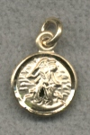 14kt Guardian Angel Medal Tiny Gold, Free Chain, # 1448
