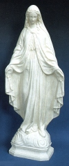 Our Lady Of Grace Outdoor Statue 24 Inch White # 16423