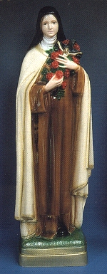 St. Therese Little Flower 24 in. Outdoor Statue Colored # 16445