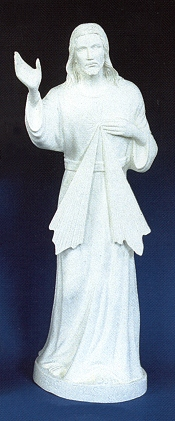 Divine Mercy  Outdoor Statue 24in. White Finish # 16446