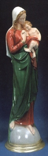 Madonna And Child Jesus 24in. Outdoor Statue Green # 16455
