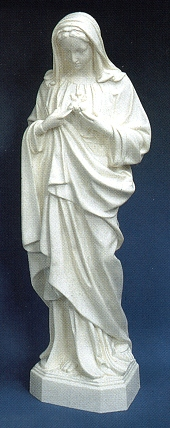 Immaculate Heart Of Mary 24in. Outdoor White Statue # 16461