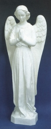 Standing Angel Outdoor Statue 24 in. White Finish # 16467