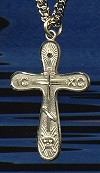 Golgatha Cross, 14kt Gold Filled, 1-3/16