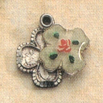 "Enameled 4-Way Medal in Sterling - 1/2"", # 19779"