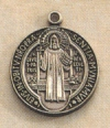 Round St. Benedict Medal Sterling 9/16 In., # 19805