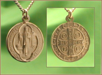 "St. Benedict 5/8"" 14kt Gold Filled Medal,Your Choice of Chain # 2254"