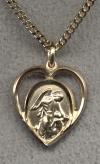 Guardian Angel Heart Medal - Gold Filled, Your Choice of Chain # 2301