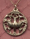 14kt Gold Filled Holy Spirit Necklace, Your Choice of Chain # 2821