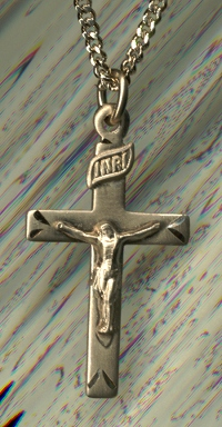 "7/8"" Crucifix 14kt Gold Filled, Your Choice of Chain # 2831"