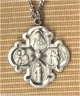 Engraved Sterling 4-Way Medal.., # 328
