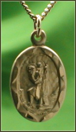 St. Christopher 14kt Gold Filled, 1/2 in. x 11/16 in. Medal, your Choice of Chain, # 4592