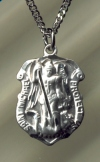 3/4 In. St. Michael Medal Sterling, Your Choice of Chain, # 5258