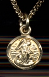 Guardian Angel Medal, 14kt Gold Filled 5/16
