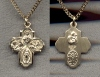 4-Way Medal Cross 14kt Gold Filled, Your Choice of Chain, # 97035
