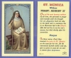 St Monica Laminated Holy Card, 25-pack, # 99894