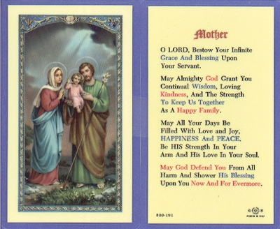Mother Laminated Holy Card, 25-pack, # 59008