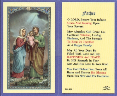 Father Laminated Holy Card, 25-pack, # 59007