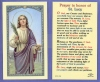 St Lucy Laminated Holy Card, 25-pack, # 99880