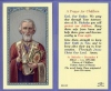 A Prayer for Children St Nicholas Laminated Holy Card, # 59021