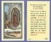 Words of OL Guadalupe to Juan Diego Laminated Holy Card, # 59077