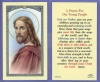 Young People Prayer Laminated Holy Card, # 59025