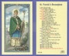 St Patrick's Breastplate Laminated Holy Card, 25-pack, # 99946